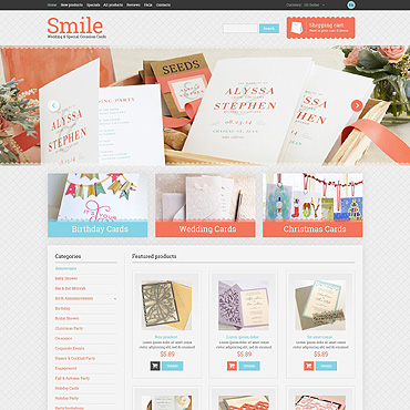Wedding Shop Website Template