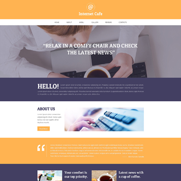 Internet Cafe Responsive Website Template