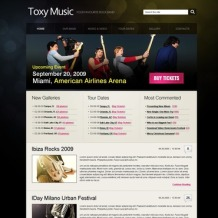 Music Band PSD Template
