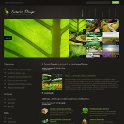 Exterior Design PSD Template