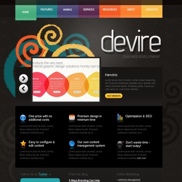 Web Development PSD Template