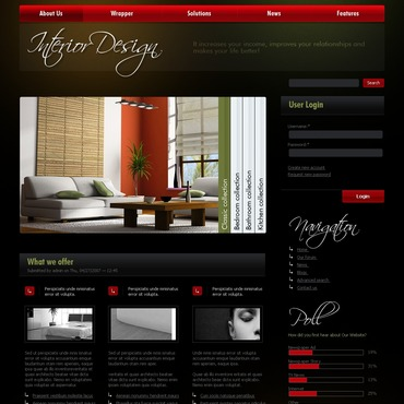 Interior Design PSD Template