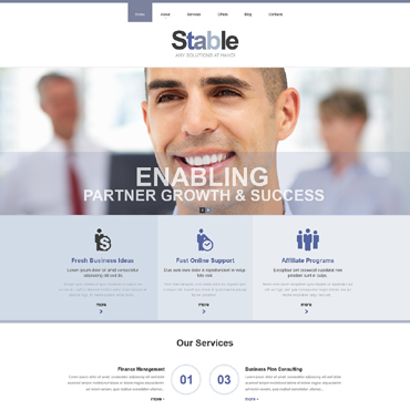 Management Company Responsive Website Template