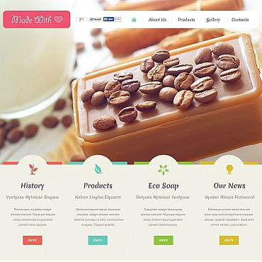 Crafts Flash CMS Template