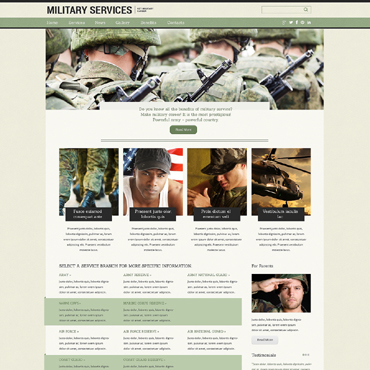 Military Drupal Template