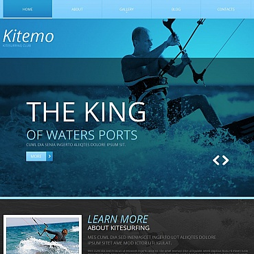 Kitesurfing Moto CMS HTML Template