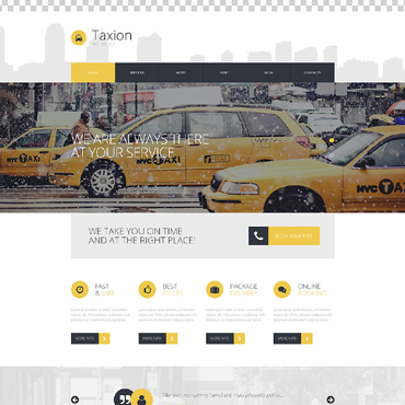 Fast and Furious Cabs WordPress Theme #50723