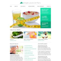 Weight Loss Responsive Website Template