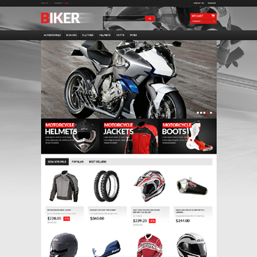 Biker Club Responsive PrestaShop Theme