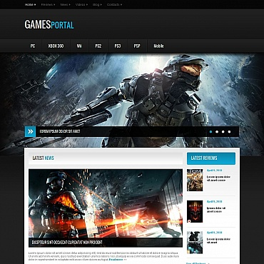 Game Portal Moto CMS HTML Template
