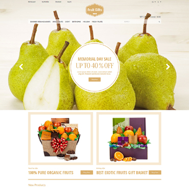 Fruit Responsive Magento Theme