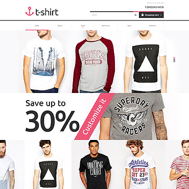 T-shirt Shop PSD Template