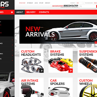 Auto Parts PSD Template