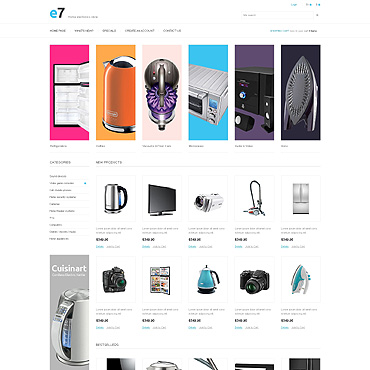 Electronics Store PSD Template