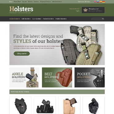 Gun Shop OsCommerce Template