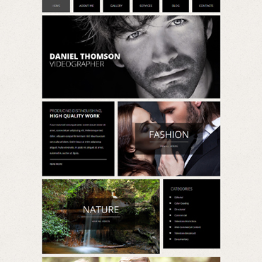 Photo  Video Online Portfolio Joomla Template #50983