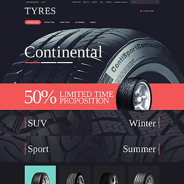Wheels & Tires PSD Template