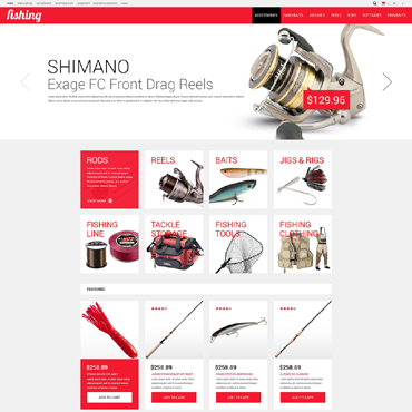 Fishing Responsive OpenCart Template