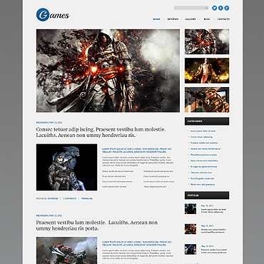 Games Responsive WordPress Theme