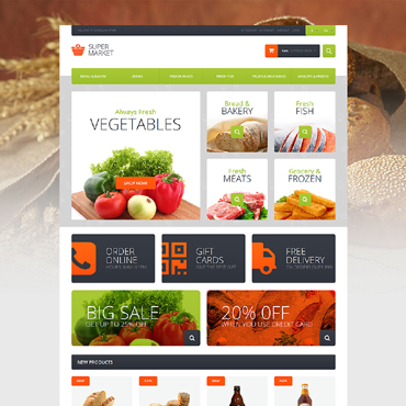 Food Store Responsive Magento Theme
