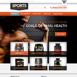 Nutrition Store PSD Template