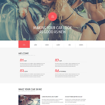 Car Wash WordPress Theme #51187