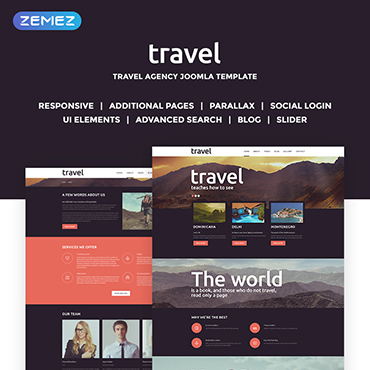 Travel Spot Joomla Template #51191