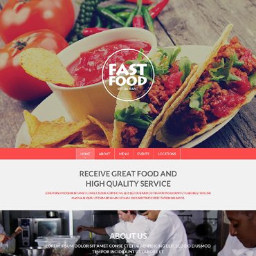 Fast Food Restaurant Drupal Template