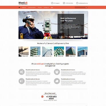 Civil Engineering Responsive Website Template #51243