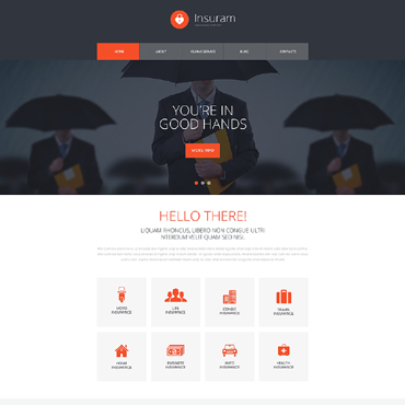 Insurance Responsive Website Template #51251