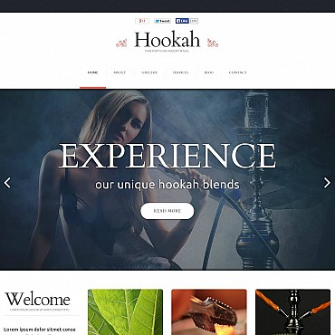Tobacco Flash CMS Template