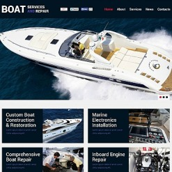 Yachting Flash CMS Template