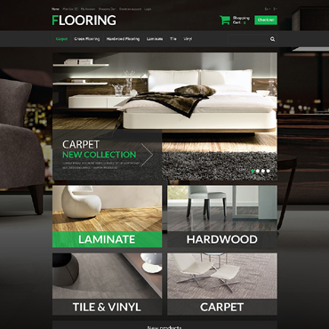New Flooring OpenCart Template #51287