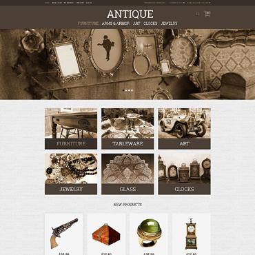 Antique Store Responsive Magento Theme