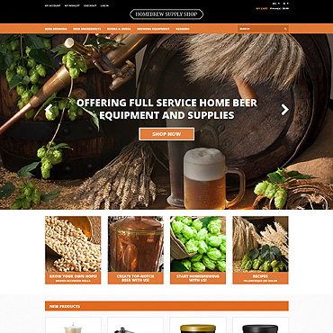 Pro Beer Brewing Magento Theme #51363