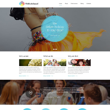 Entertainmnet Responsive Website Template