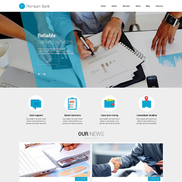 Trustworthy Financial Institutions Joomla Template #51395