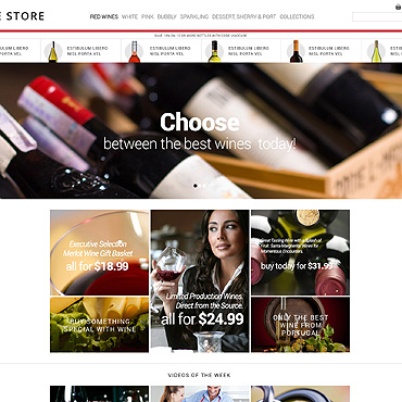 Wine PSD Template