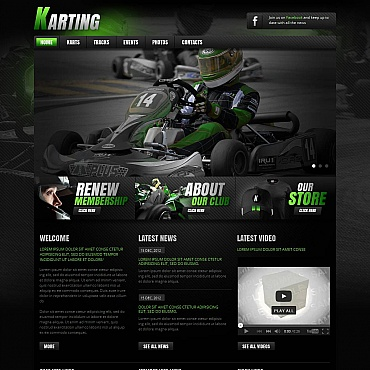 Karting Moto CMS HTML Template