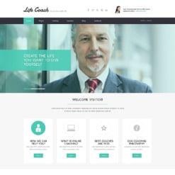 Life Coach Responsive Website Template