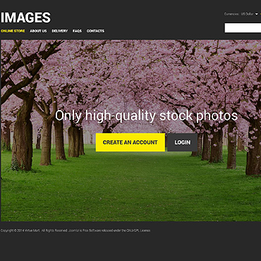 Stock Photo VirtueMart Template
