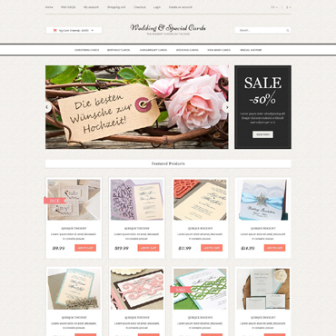 Wedding Responsive OpenCart Template
