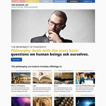 Philosophy Courses WordPress Theme #51823
