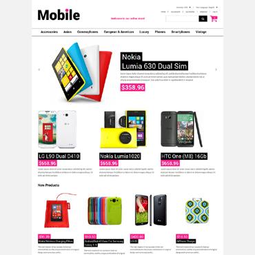 Mobile Store Responsive Magento Theme