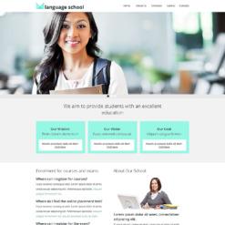 Language School Responsive Website Template