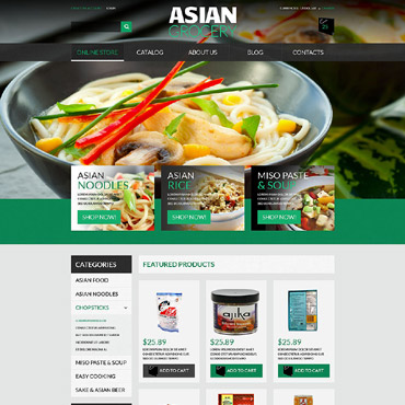 Grocery Store Responsive VirtueMart Template
