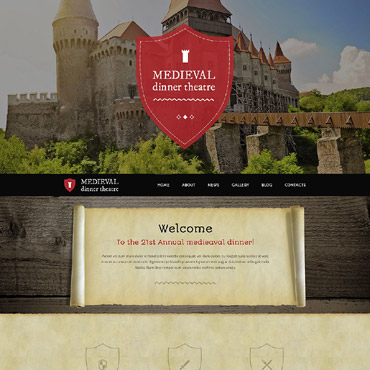 Medieval Dinner Theater WordPress Theme #51987