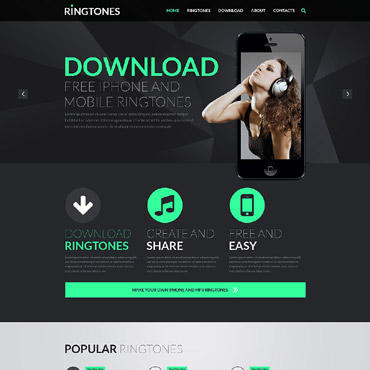 Music Store Responsive Website Template #51999