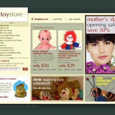 Toy Store Website Template