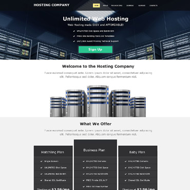 Hosting Muse Template